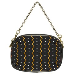 Halloween Zigzag Vintage Chevron Ornamental Cute Polka Dots Chain Purses (one Side)