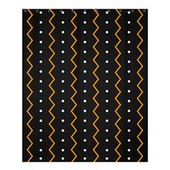 Halloween Zigzag Vintage Chevron Ornamental Cute Polka Dots Shower Curtain 60  X 72  (medium)