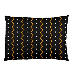 Halloween Zigzag Vintage Chevron Ornamental Cute Polka Dots Pillow Case (two Sides)