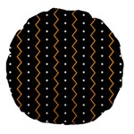 Halloween Zigzag Vintage Chevron Ornamental Cute Polka Dots Large 18  Premium Round Cushions Back