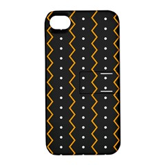 Halloween Zigzag Vintage Chevron Ornamental Cute Polka Dots Apple Iphone 4/4s Hardshell Case With Stand