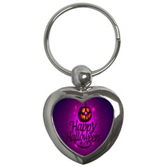 Happy Ghost Halloween Key Chains (heart)  by Alisyart