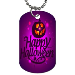 Happy Ghost Halloween Dog Tag (one Side)