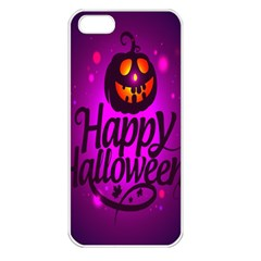 Happy Ghost Halloween Apple Iphone 5 Seamless Case (white)