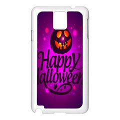Happy Ghost Halloween Samsung Galaxy Note 3 N9005 Case (white) by Alisyart
