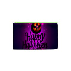 Happy Ghost Halloween Cosmetic Bag (xs) by Alisyart