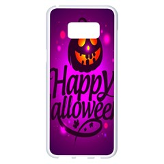Happy Ghost Halloween Samsung Galaxy S8 Plus White Seamless Case