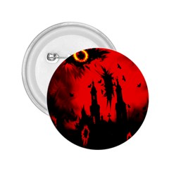 Big Eye Fire Black Red Night Crow Bird Ghost Halloween 2 25  Buttons