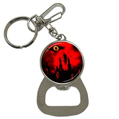 Big Eye Fire Black Red Night Crow Bird Ghost Halloween Button Necklaces by Alisyart