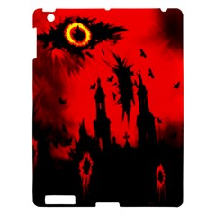 Big Eye Fire Black Red Night Crow Bird Ghost Halloween Apple Ipad 3/4 Hardshell Case by Alisyart