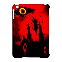 Big Eye Fire Black Red Night Crow Bird Ghost Halloween Apple Ipad Mini Hardshell Case (compatible With Smart Cover)