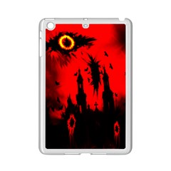 Big Eye Fire Black Red Night Crow Bird Ghost Halloween Ipad Mini 2 Enamel Coated Cases