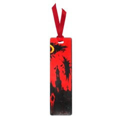 Big Eye Fire Black Red Night Crow Bird Ghost Halloween Small Book Marks
