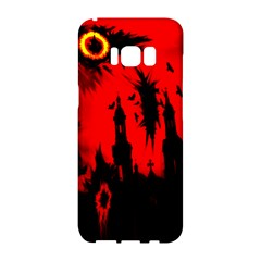 Big Eye Fire Black Red Night Crow Bird Ghost Halloween Samsung Galaxy S8 Hardshell Case  by Alisyart