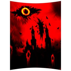 Big Eye Fire Black Red Night Crow Bird Ghost Halloween Back Support Cushion by Alisyart