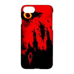Big Eye Fire Black Red Night Crow Bird Ghost Halloween Apple Iphone 8 Hardshell Case by Alisyart