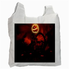 Halloween Pumpkins Tree Night Black Eye Jungle Moon Recycle Bag (one Side)