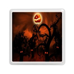 Halloween Pumpkins Tree Night Black Eye Jungle Moon Memory Card Reader (square)