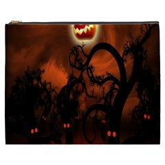 Halloween Pumpkins Tree Night Black Eye Jungle Moon Cosmetic Bag (xxxl)