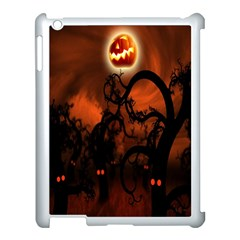 Halloween Pumpkins Tree Night Black Eye Jungle Moon Apple Ipad 3/4 Case (white)