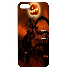 Halloween Pumpkins Tree Night Black Eye Jungle Moon Apple Iphone 5 Hardshell Case With Stand by Alisyart