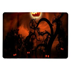 Halloween Pumpkins Tree Night Black Eye Jungle Moon Samsung Galaxy Tab 10 1  P7500 Flip Case