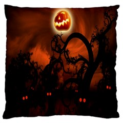 Halloween Pumpkins Tree Night Black Eye Jungle Moon Standard Flano Cushion Case (two Sides)
