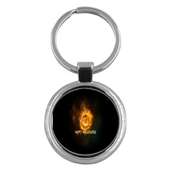 Happy Halloween Pumpkins Face Smile Face Ghost Night Key Chains (round)