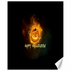 Happy Halloween Pumpkins Face Smile Face Ghost Night Canvas 16  X 20   by Alisyart