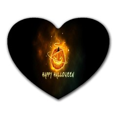 Happy Halloween Pumpkins Face Smile Face Ghost Night Heart Mousepads by Alisyart