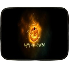 Happy Halloween Pumpkins Face Smile Face Ghost Night Double Sided Fleece Blanket (mini)  by Alisyart