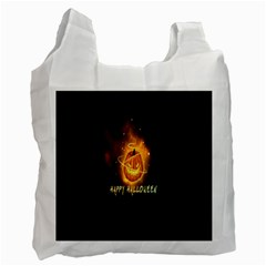 Happy Halloween Pumpkins Face Smile Face Ghost Night Recycle Bag (one Side) by Alisyart