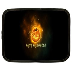 Happy Halloween Pumpkins Face Smile Face Ghost Night Netbook Case (xl)