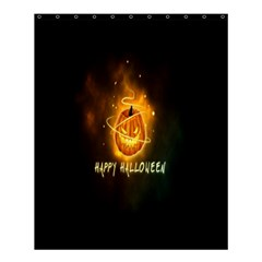 Happy Halloween Pumpkins Face Smile Face Ghost Night Shower Curtain 60  X 72  (medium)