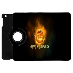 Happy Halloween Pumpkins Face Smile Face Ghost Night Apple Ipad Mini Flip 360 Case by Alisyart