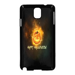 Happy Halloween Pumpkins Face Smile Face Ghost Night Samsung Galaxy Note 3 Neo Hardshell Case (black)