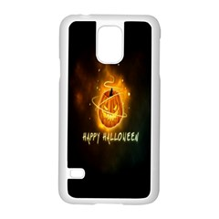Happy Halloween Pumpkins Face Smile Face Ghost Night Samsung Galaxy S5 Case (white)