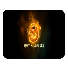 Happy Halloween Pumpkins Face Smile Face Ghost Night Double Sided Flano Blanket (large)