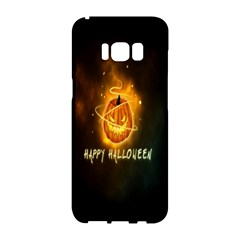 Happy Halloween Pumpkins Face Smile Face Ghost Night Samsung Galaxy S8 Hardshell Case  by Alisyart