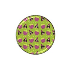 Hat Formula Purple Green Polka Dots Hat Clip Ball Marker (10 Pack) by Alisyart