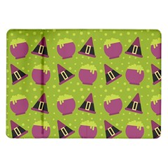 Hat Formula Purple Green Polka Dots Samsung Galaxy Tab 10 1  P7500 Flip Case