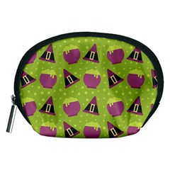 Hat Formula Purple Green Polka Dots Accessory Pouches (medium)