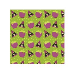Hat Formula Purple Green Polka Dots Small Satin Scarf (square)