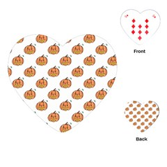 Face Mask Ghost Halloween Pumpkin Pattern Playing Cards (heart)  by Alisyart