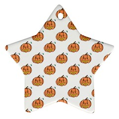 Face Mask Ghost Halloween Pumpkin Pattern Star Ornament (two Sides) by Alisyart