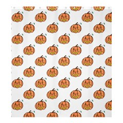 Face Mask Ghost Halloween Pumpkin Pattern Shower Curtain 66  X 72  (large)  by Alisyart