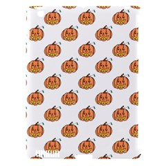 Face Mask Ghost Halloween Pumpkin Pattern Apple Ipad 3/4 Hardshell Case (compatible With Smart Cover)