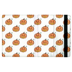 Face Mask Ghost Halloween Pumpkin Pattern Apple Ipad 2 Flip Case by Alisyart