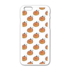 Face Mask Ghost Halloween Pumpkin Pattern Apple Iphone 6/6s White Enamel Case by Alisyart