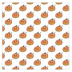 Face Mask Ghost Halloween Pumpkin Pattern Large Satin Scarf (square)
